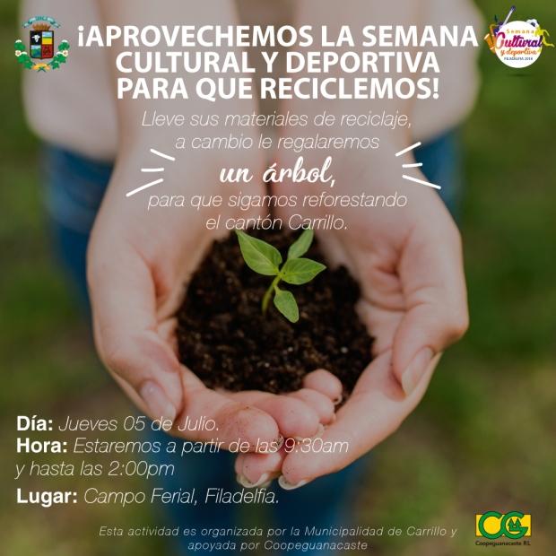 Campaña de reciclaje y reforestacion